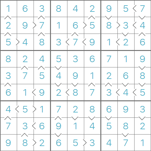 How to solve Greater Than Sudoku puzzles